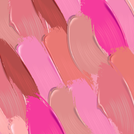 Lipstick smears vector background