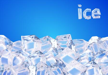 얼음 조각으로 배경 일러스트