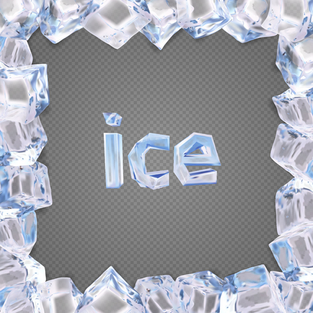 Ice frame vector.