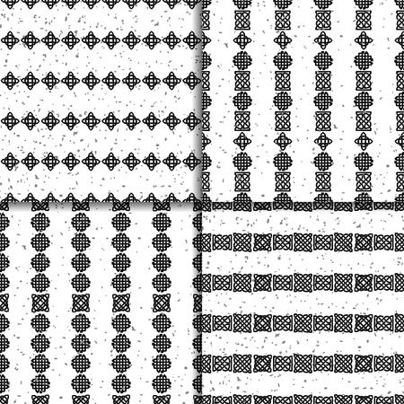 celtic background: Celtic knot seamless pattern set Illustration