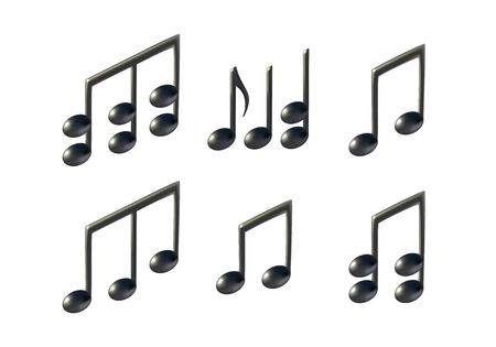 Music note vector icons Illustration