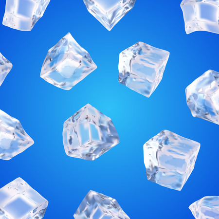 refrigerate: Background with ice cubes Illustration