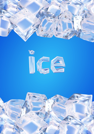 crystal background: Background with ice cubes Illustration