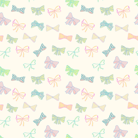 festivity: Seamless pattern with skerchy bows