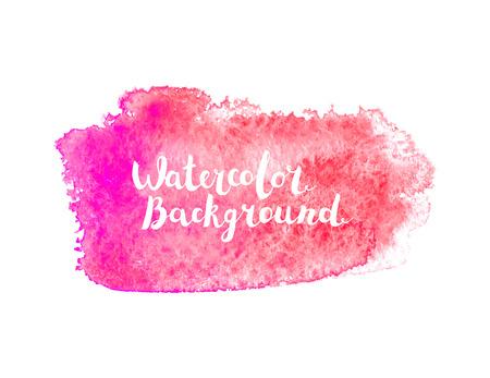 Watercolor brush stroke Illustration