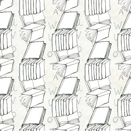 Seamless pattern con i libri Archivio Fotografico - 82491935