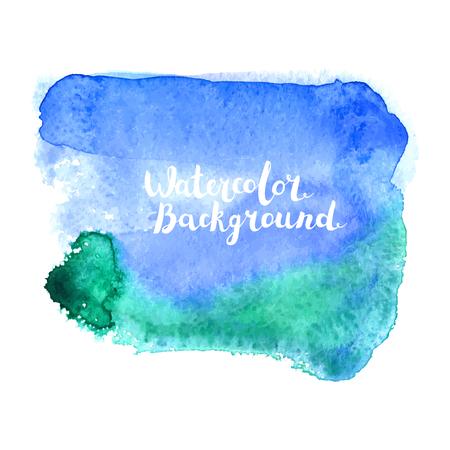 Watercolor vector blot
