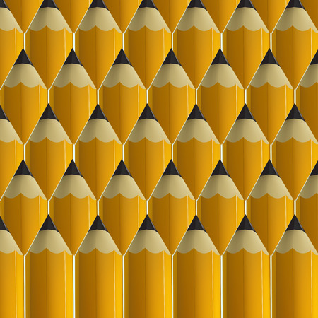 Yellow pencils background.