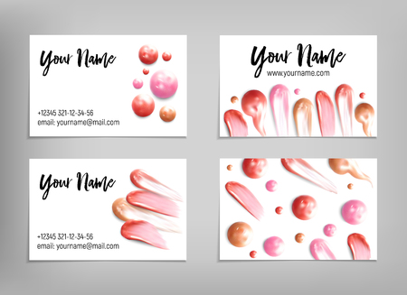 Makeup artist business card vector template royalty free cliparts makeup artist business card vector template stock vector 85203604 cheaphphosting Images