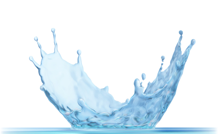 Water crown splash, isolated on transparent background.