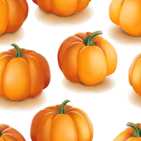 Halloween seamless pattern. Background with pumpkins.