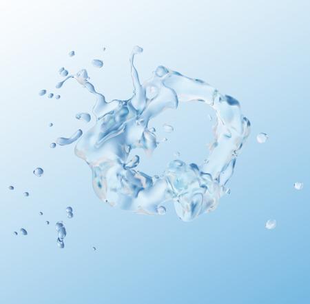 Water splash on transparent background. Illustration