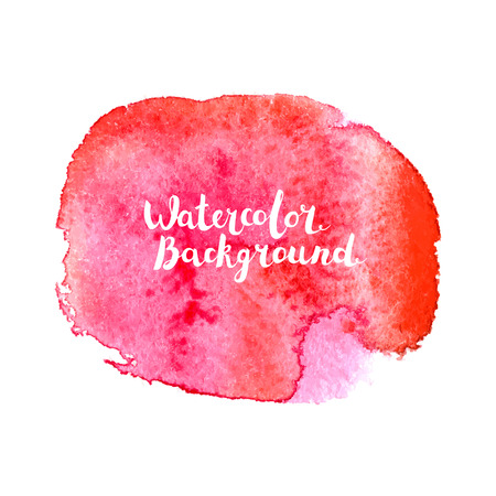 Watercolor splat effect with typography lettering inside.