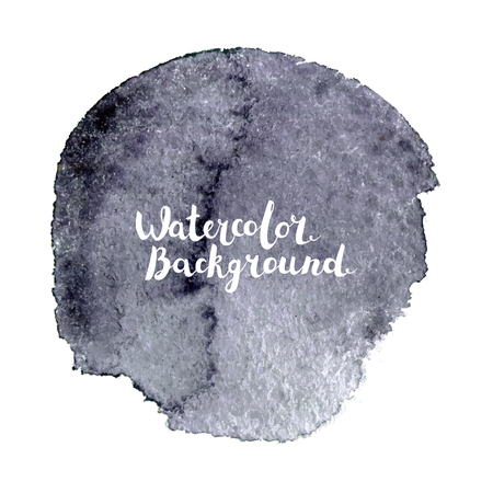 Watercolor vector background with lettering