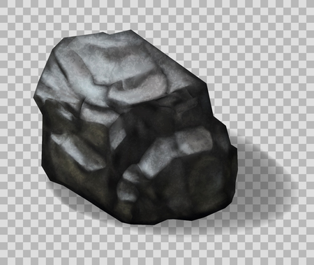 Rock stone. Vector 3d realistic illustration