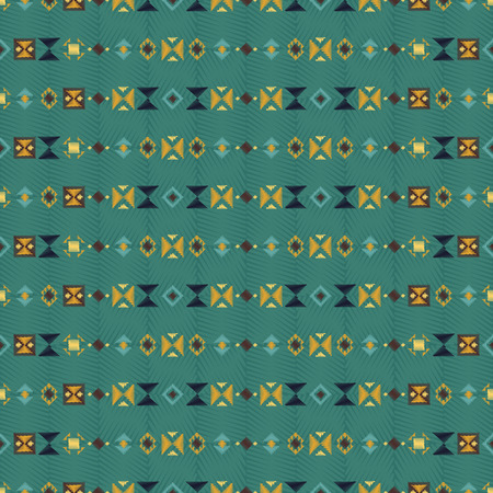 Geometric embroidery style. Ethnic seamless pattern. Abstract aztec background. Good for web, print and textile design. Boho ornament vector.