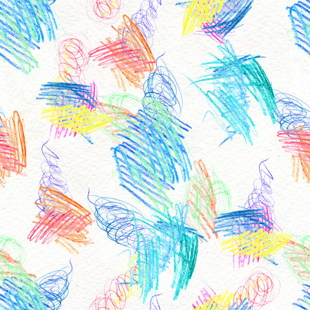 Abstract seamless scribble background. Fantasy modern colorful pattern. Vibrant art chaos backdrop.
