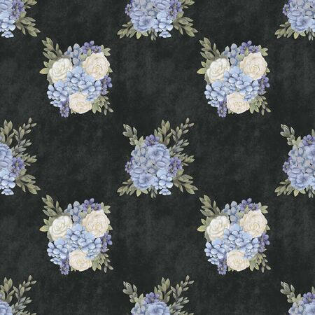 Vintage Floral seamless pattern. Hand-drawn flowers for fabric