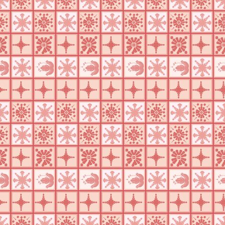 Vector ceramic tile pattern, abstract mosaic, Mediterranean seamless ornament
