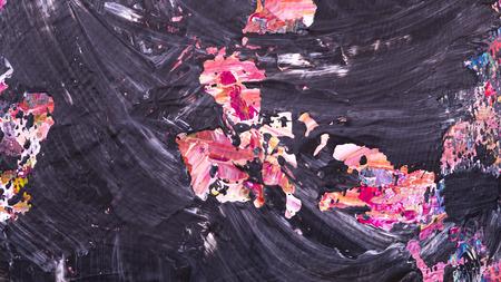 Abstracte acryl met de hand geschilderde textuur als achtergrond op karton Stockfoto - 71122878
