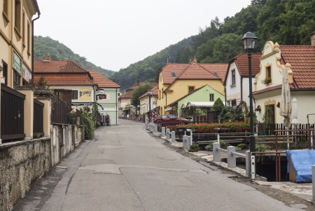 Karlstejn street like a fairy tale attics Stock Photo - 16170173