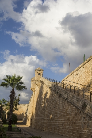 strengthening: the ancient fortress wall in Akko Editorial