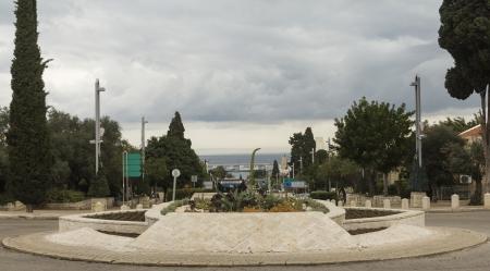 meaningless: Street leading towards the sea in Haifa