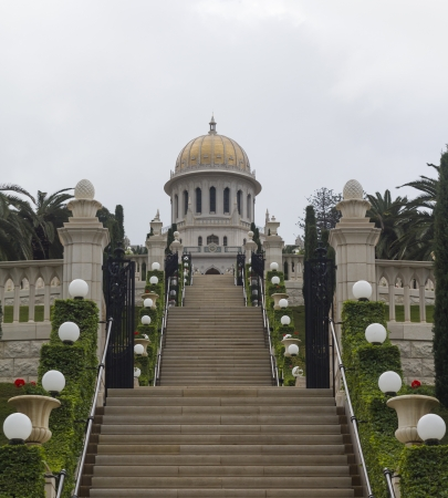 Haifa Bahai Temple and beautiful gardens photo