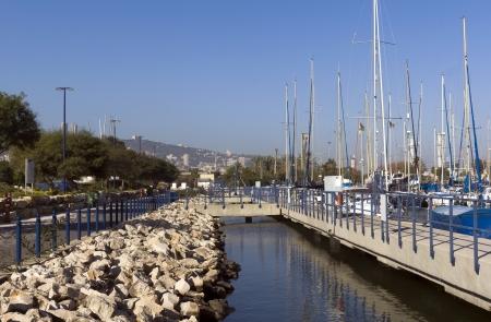 dinghies: Yachts at the berth awaiting travel