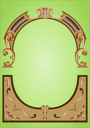 Frame background woodcarving Stock Photo