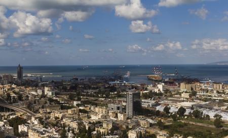 haifa: landscape sea port in Haifa