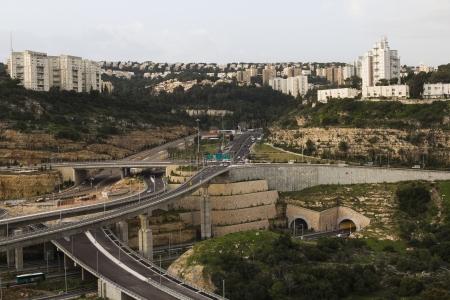haifa: The view from the window in Haifa Stock Photo