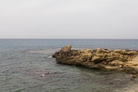 seacoast: seacoast in Caesarea Stock Photo