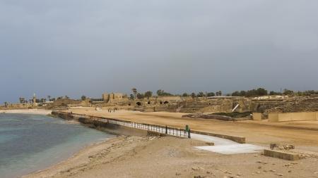 caesarea: seacoast in Caesarea Stock Photo