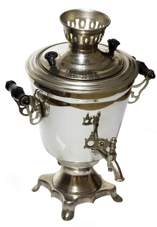 Samovar on a white background photo