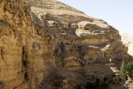 vadi: Desert canyon of Wadi Kelt in Israel