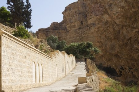 vadi: Monastery of St. George fence in Israel
