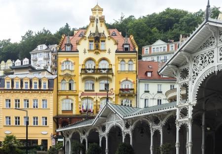 vary: beautiful building in Karlovy Vary