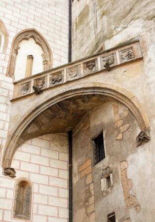 parapet wall: parapet of the castle Krivoklat Czech Republic Stock Photo
