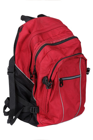 haversack: backpack on a white background