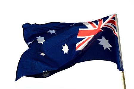 Australian flag on a white background photo