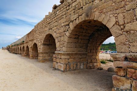 ceasarea: Aqueduct in ancient Caesarea