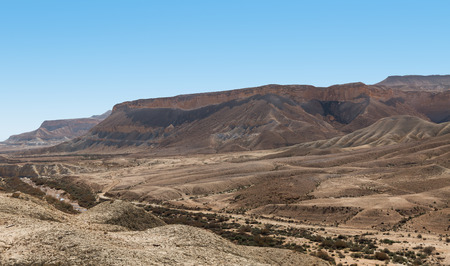 negev: large crater in the Negev desert, Israel