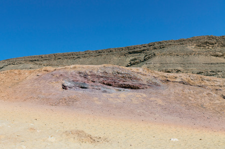 negev: Colored sand in the Negev desert, Israel Stock Photo