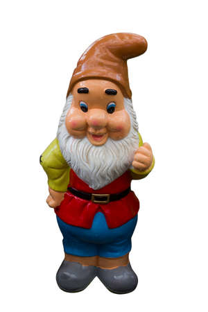 gnome: cute gnome on a white background
