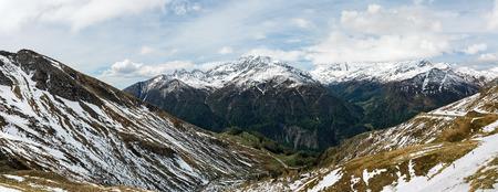 snowcapped: snow-capped Alps in Austria landscape