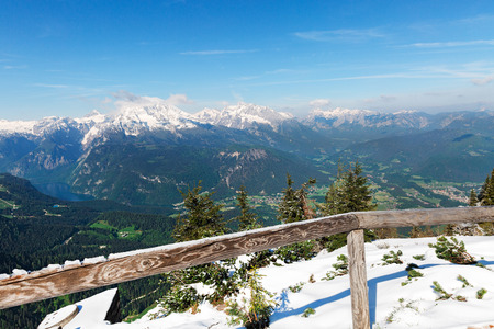hitler: landscape with mountains Eagles Nest tea house Hitler in Bavaria Stock Photo