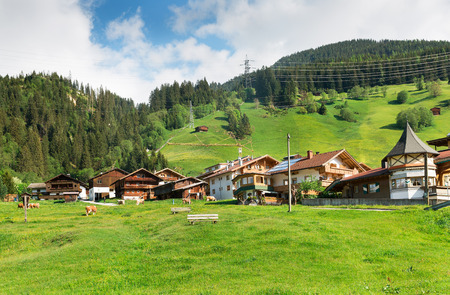 austrian village: Austrian village in the Alps