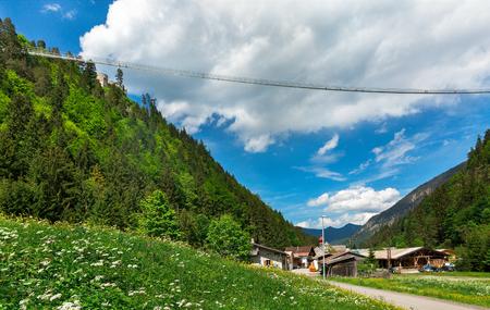 in mountain: the longest suspension bridge in the world Austria