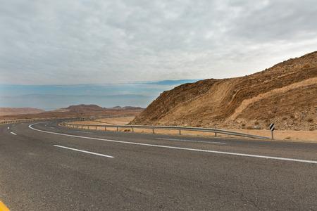 arava: road in the Arava desert in Israel